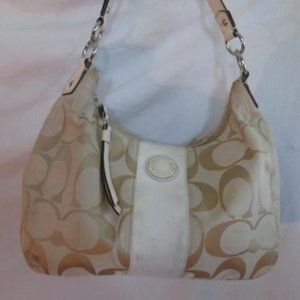COACH F19281 SIGNATURE STRIPE Jacquard Canvas Bag
